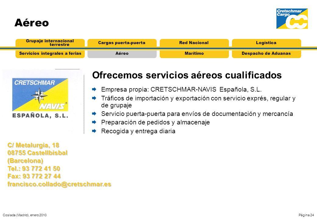 Ofrecemos servicios aéreos cualificados
