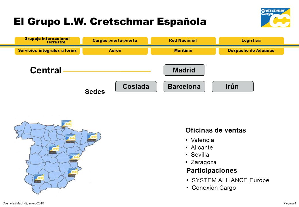 El Grupo L.W. Cretschmar Española