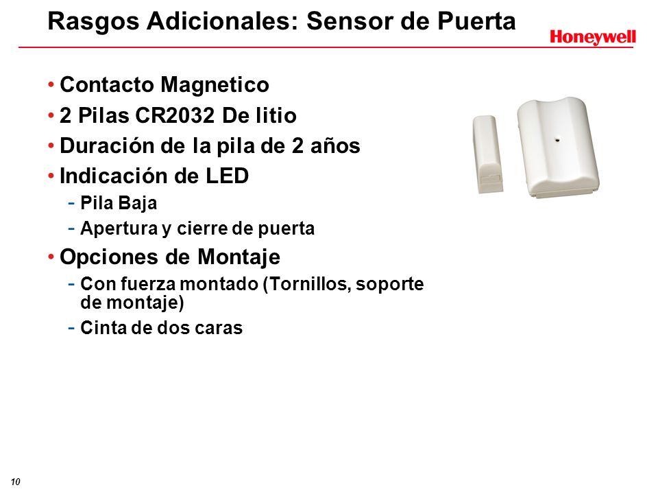 Rasgos Adicionales: Sensor de Puerta