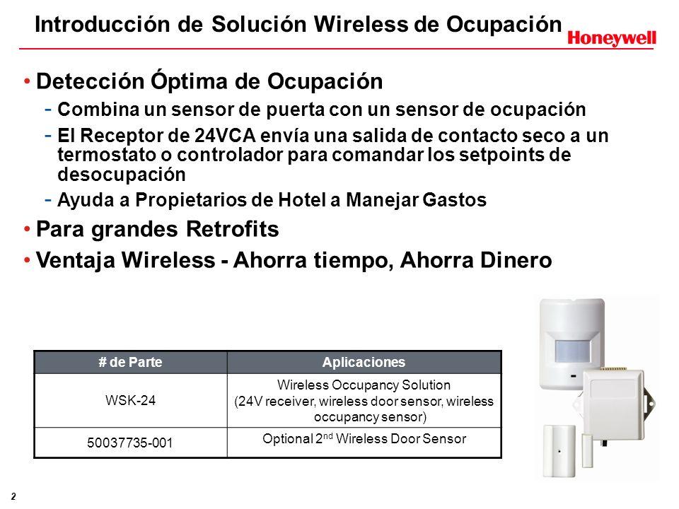 Introducción de Solución Wireless de Ocupación