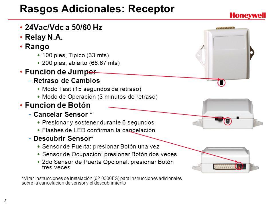 Rasgos Adicionales: Receptor