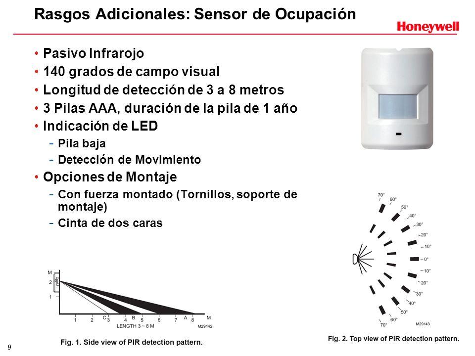 Rasgos Adicionales: Sensor de Ocupación