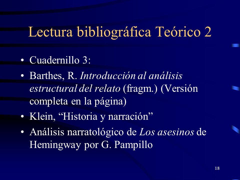 Lectura bibliográfica Teórico 2