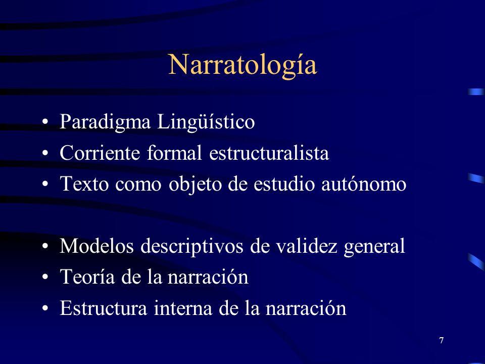 Narratología Paradigma Lingüístico Corriente formal estructuralista