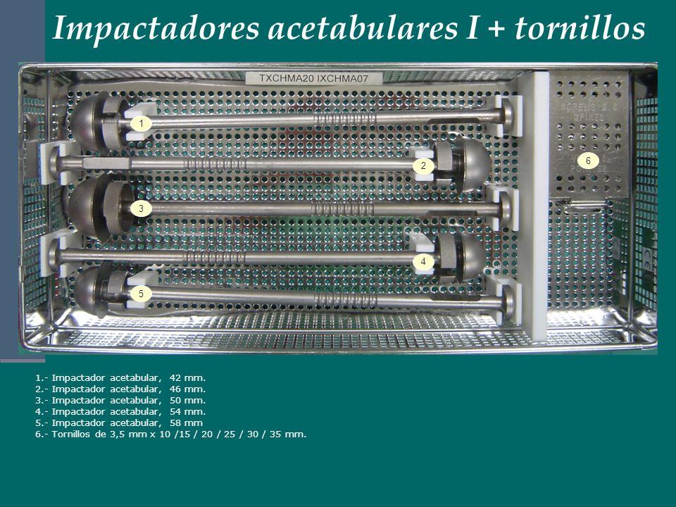 Impactadores acetabulares I + tornillos