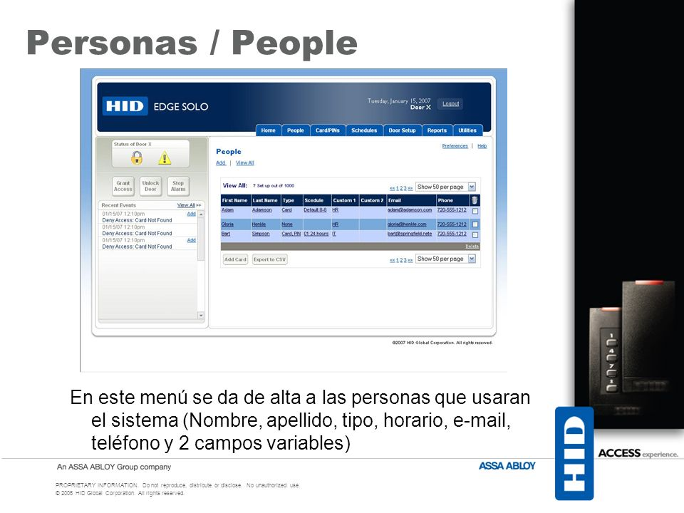 Personas / People