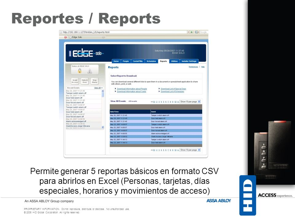 Reportes / Reports
