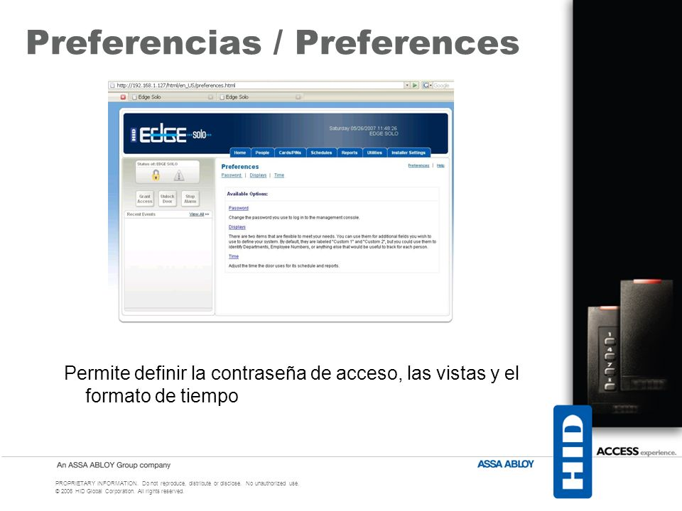 Preferencias / Preferences