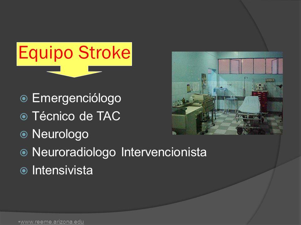 Equipo Stroke Emergenciólogo Técnico de TAC Neurologo