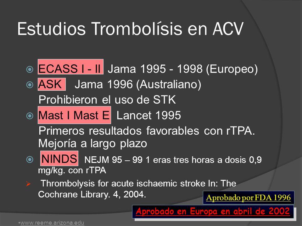 Estudios Trombolísis en ACV