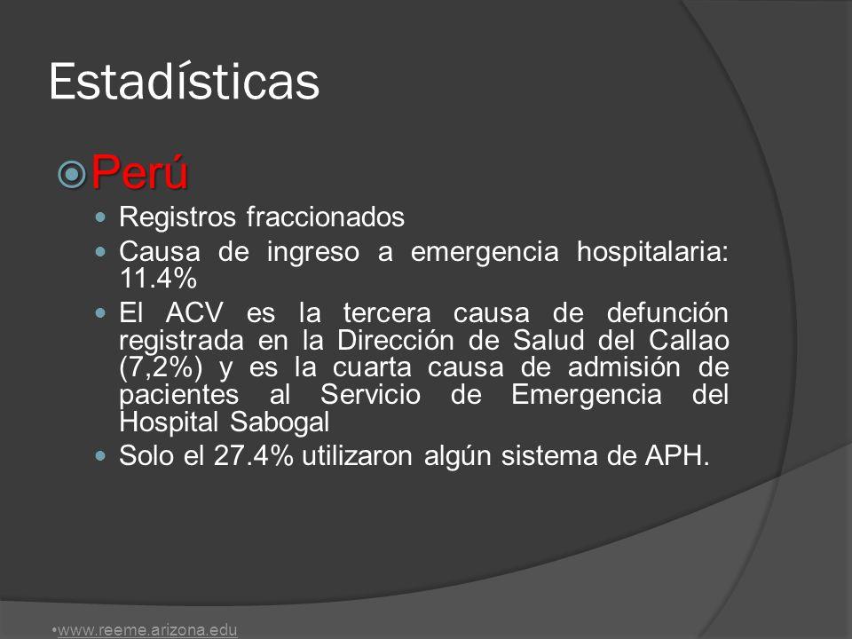 Estadísticas Perú Registros fraccionados