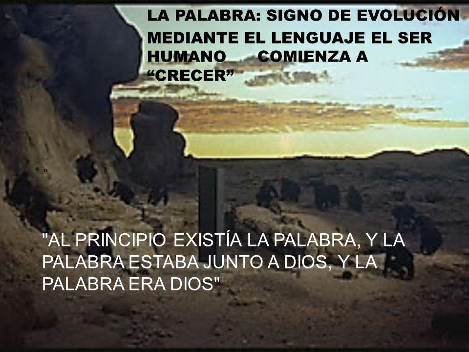 LA PALABRA: SIGNO DE EVOLUCIÓN