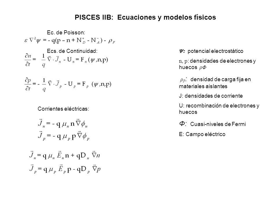 PISCES IIB: Ecuaciones y modelos físicos