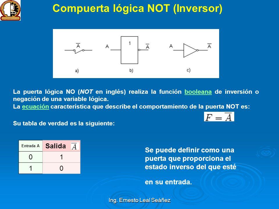 Compuerta lógica NOT (Inversor)