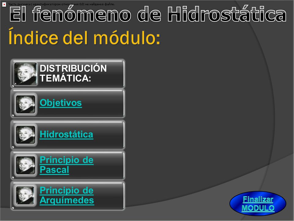 El fenómeno de Hidrostática Índice del módulo: