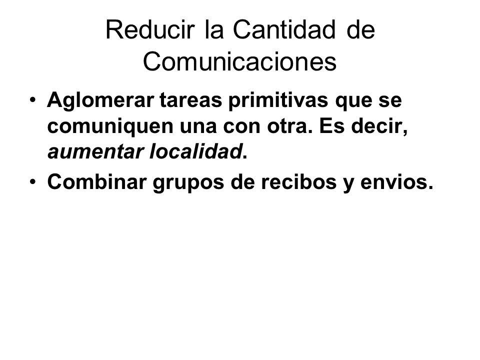 Reducir la Cantidad de Comunicaciones