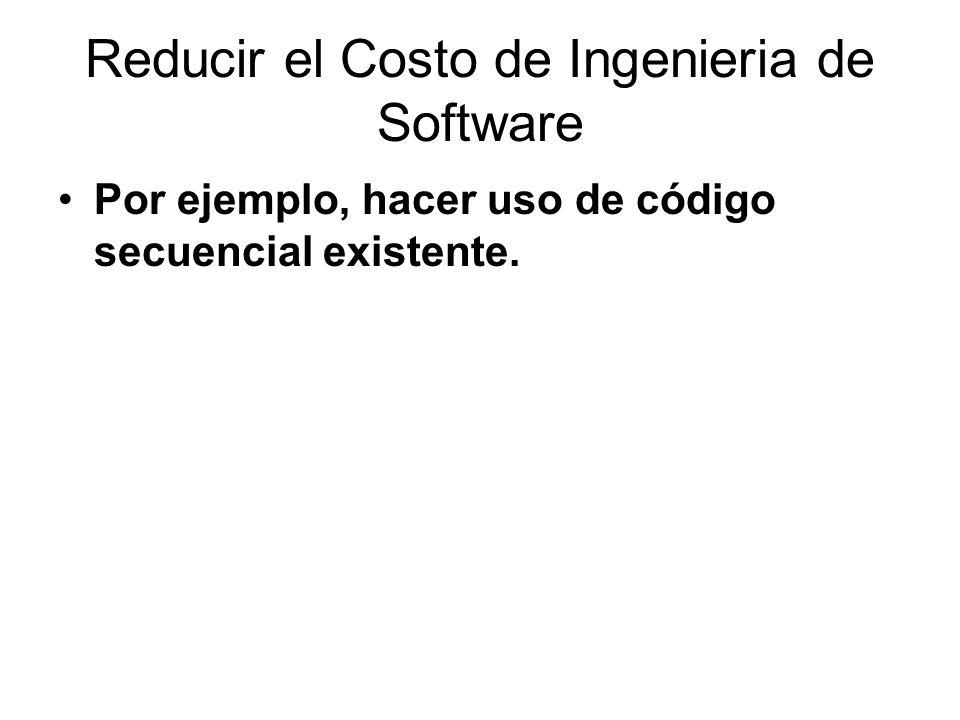 Reducir el Costo de Ingenieria de Software