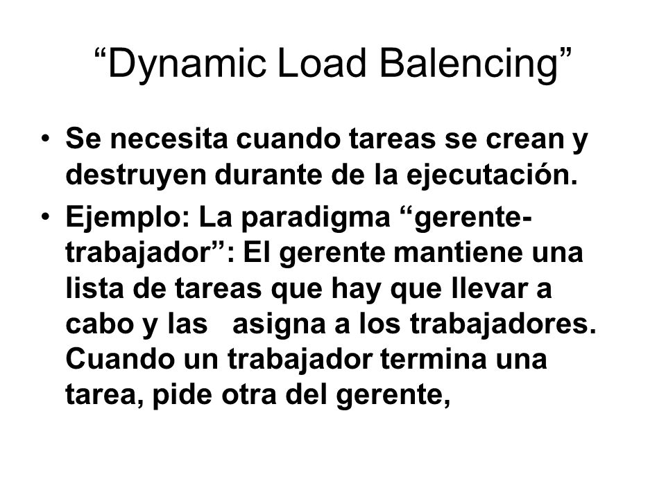 Dynamic Load Balencing
