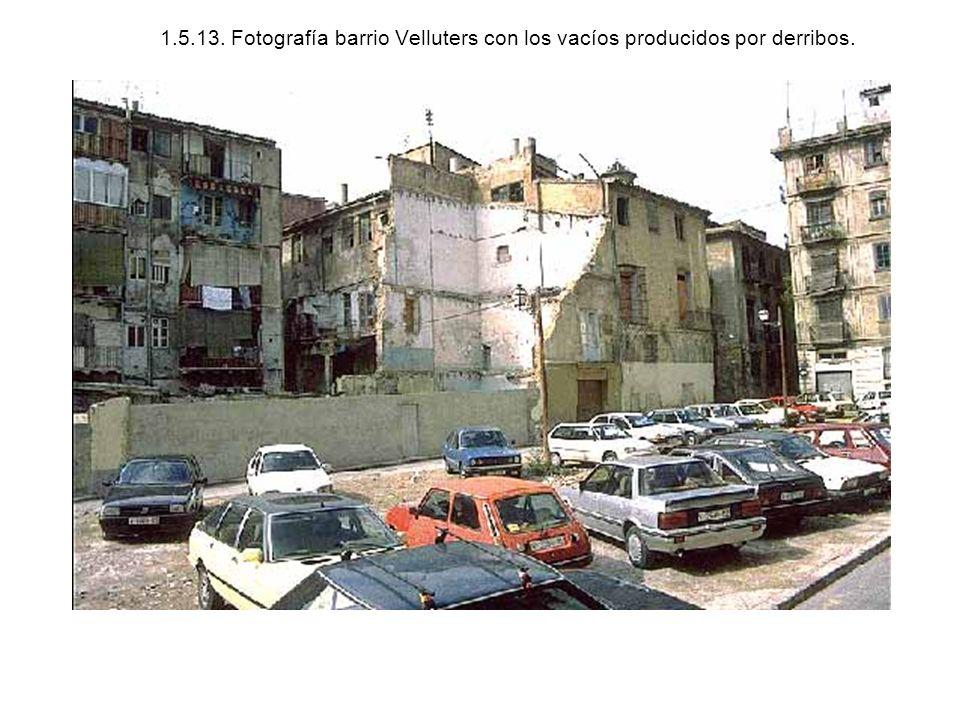 1.5.13. Fotografía barrio Velluters con los vacíos producidos por derribos.