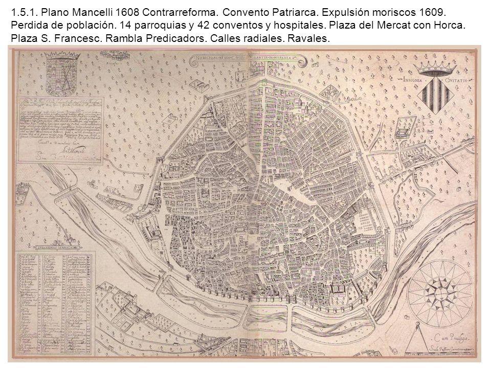 1. 5. 1. Plano Mancelli 1608 Contrarreforma. Convento Patriarca