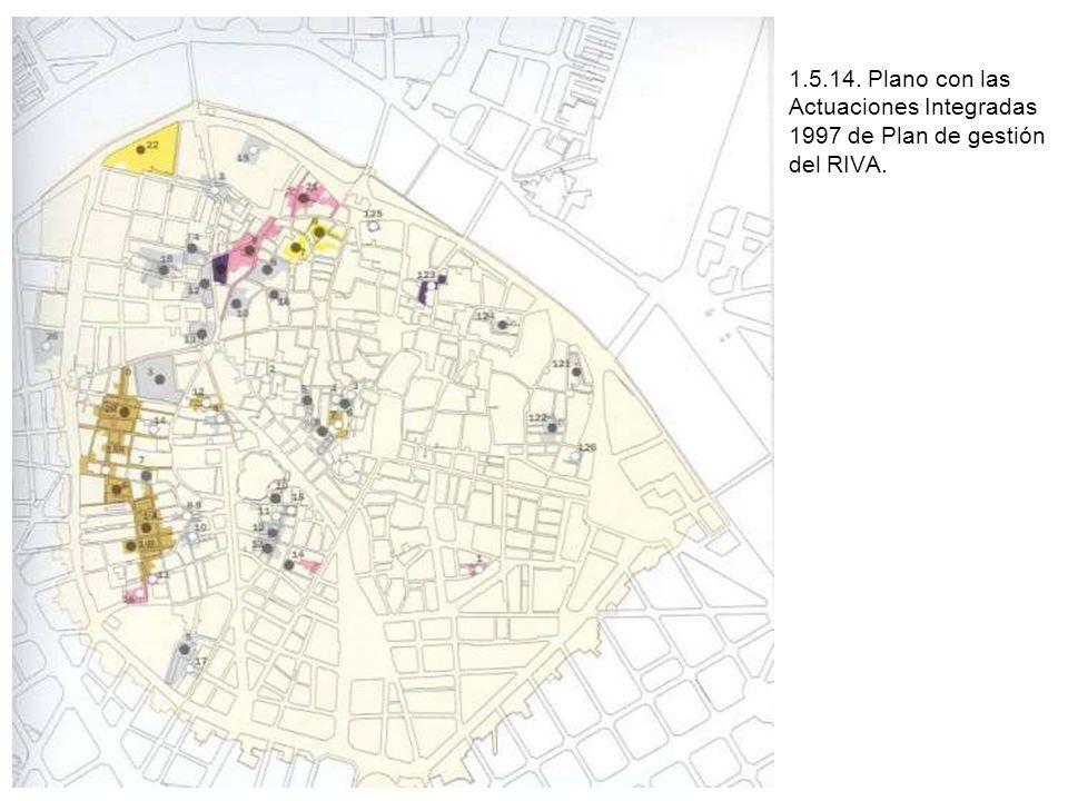 1.5.14. Plano con las Actuaciones Integradas 1997 de Plan de gestión del RIVA.