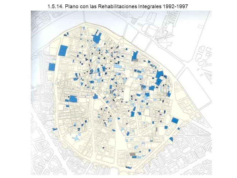 1.5.14. Plano con las Rehabilitaciones Integrales 1992-1997