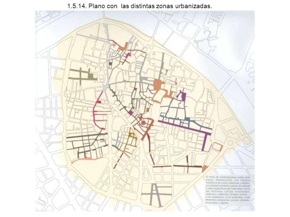 1.5.14. Plano con las distintas zonas urbanizadas.