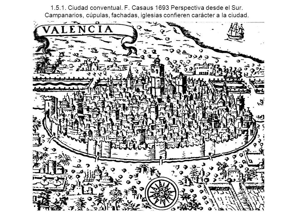 1. 5. 1. Ciudad conventual. F. Casaus 1693 Perspectiva desde el Sur