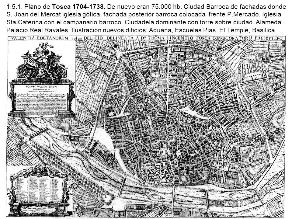 1. 5. 1. Plano de Tosca 1704-1738. De nuevo eran 75. 000 hb