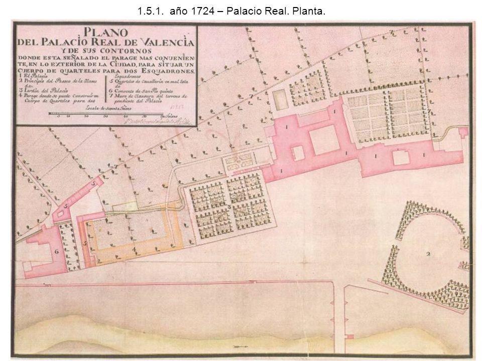 1.5.1. año 1724 – Palacio Real. Planta.