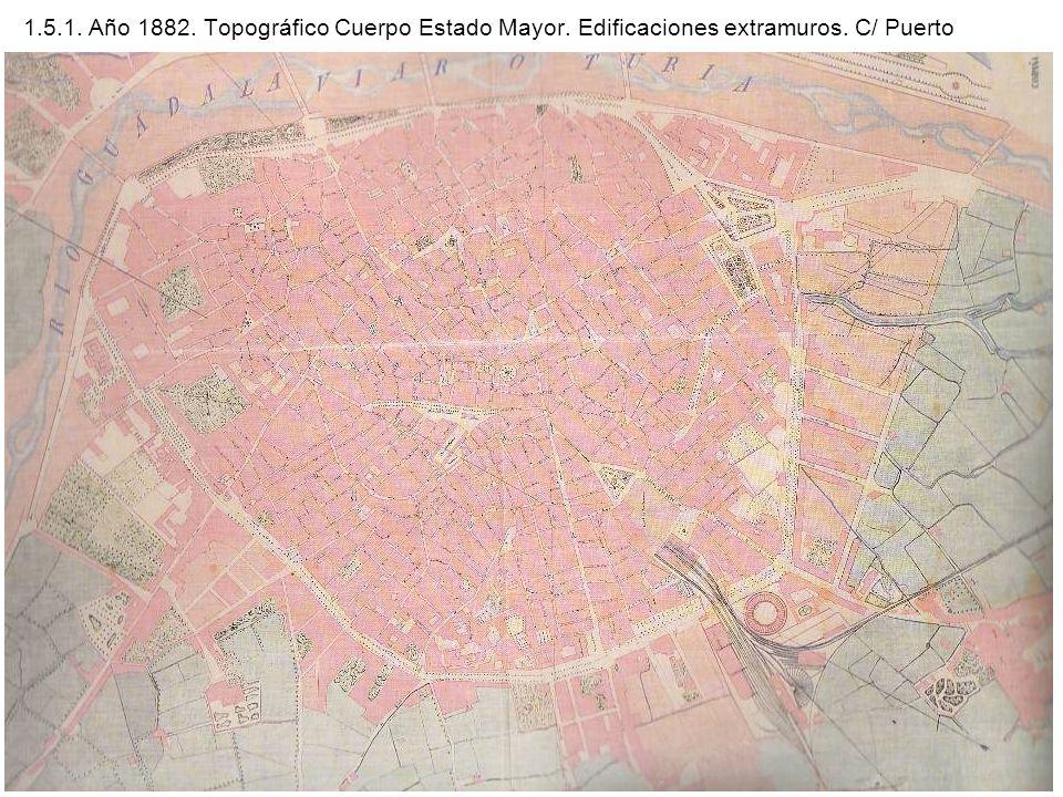 1. 5. 1. Año 1882. Topográfico Cuerpo Estado Mayor