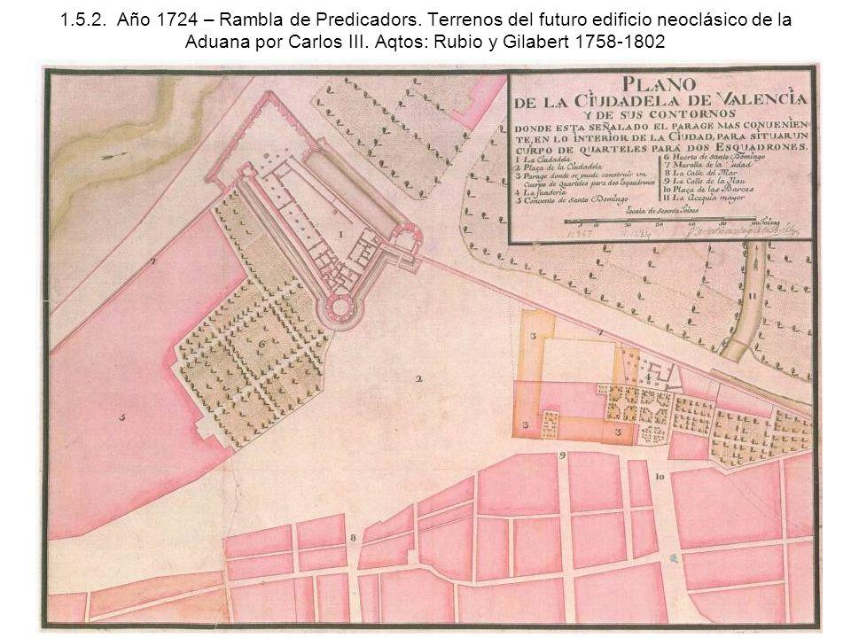 1. 5. 2. Año 1724 – Rambla de Predicadors