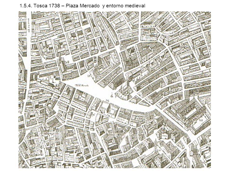 1.5.4. Tosca 1738 – Plaza Mercado y entorno medieval