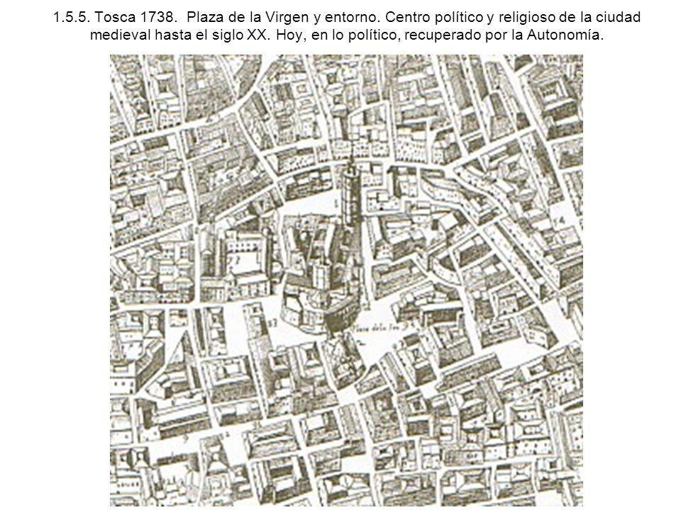 1. 5. 5. Tosca 1738. Plaza de la Virgen y entorno