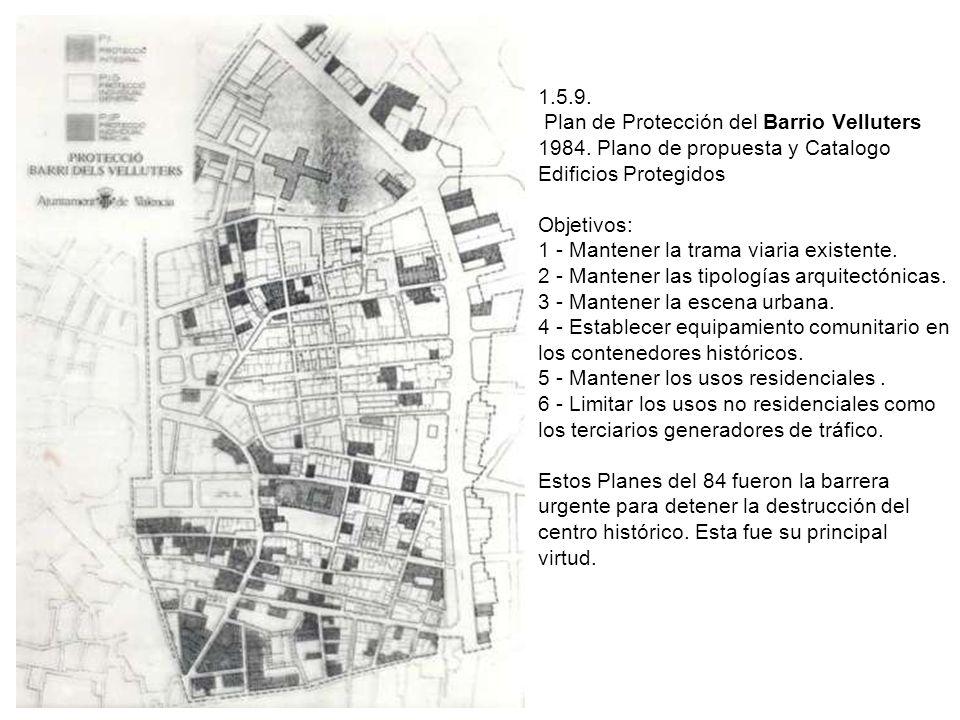 1. 5. 9. Plan de Protección del Barrio Velluters 1984