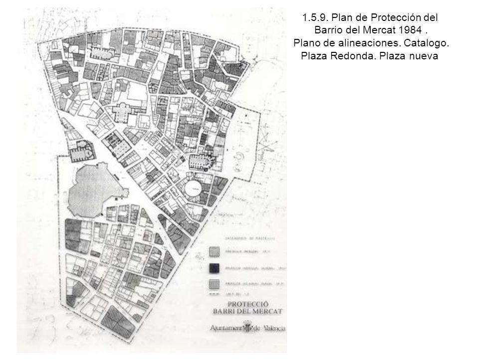 1. 5. 9. Plan de Protección del Barrio del Mercat 1984