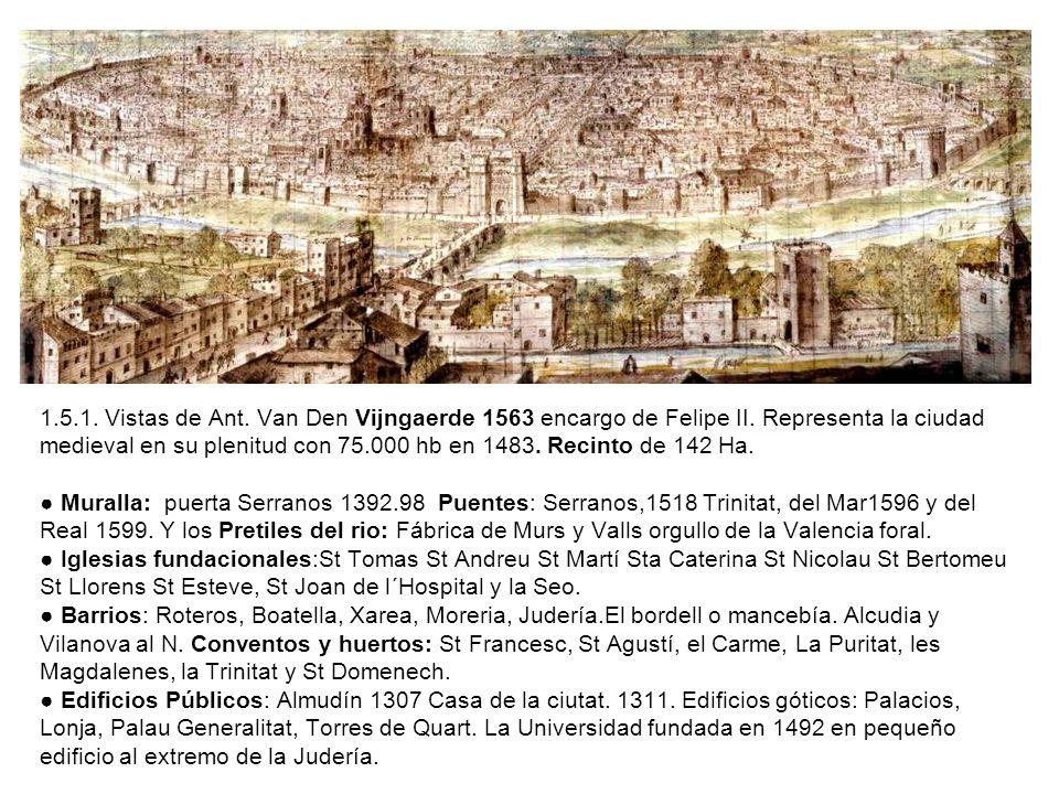 1. 5. 1. Vistas de Ant. Van Den Vijngaerde 1563 encargo de Felipe II