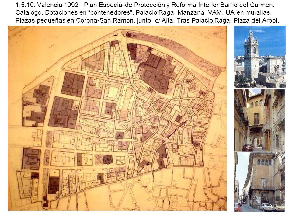 1.5.10. Valencia 1992 - Plan Especial de Protección y Reforma Interior Barrio del Carmen.
