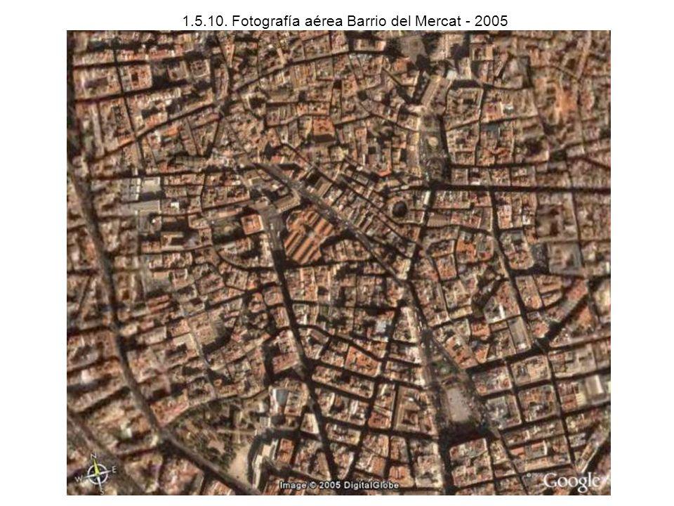 1.5.10. Fotografía aérea Barrio del Mercat - 2005