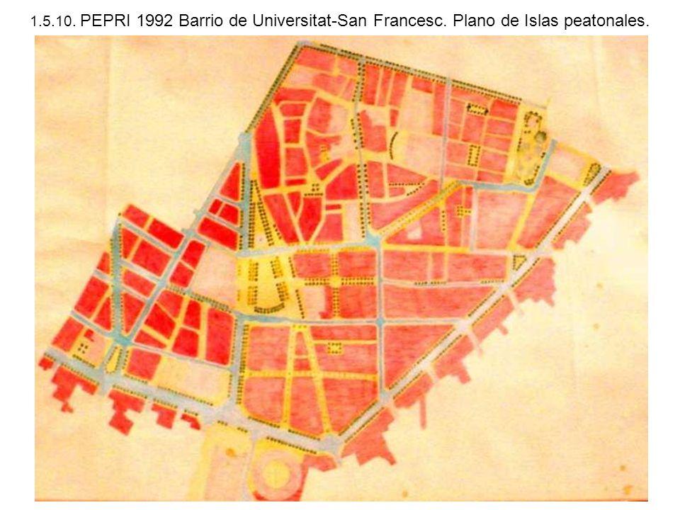 1. 5. 10. PEPRI 1992 Barrio de Universitat-San Francesc