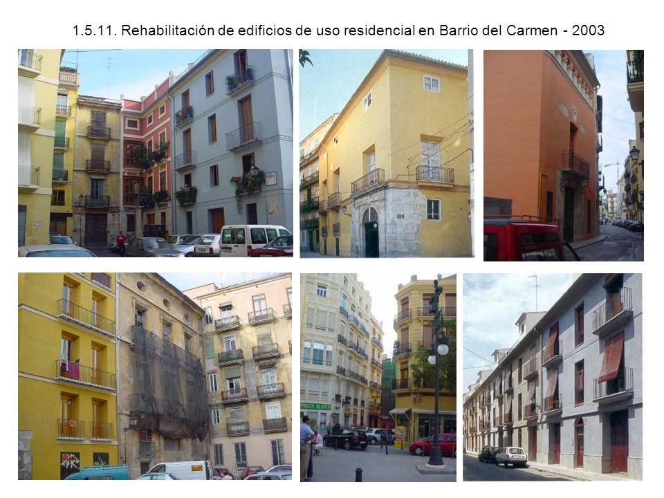 1.5.11. Rehabilitación de edificios de uso residencial en Barrio del Carmen - 2003