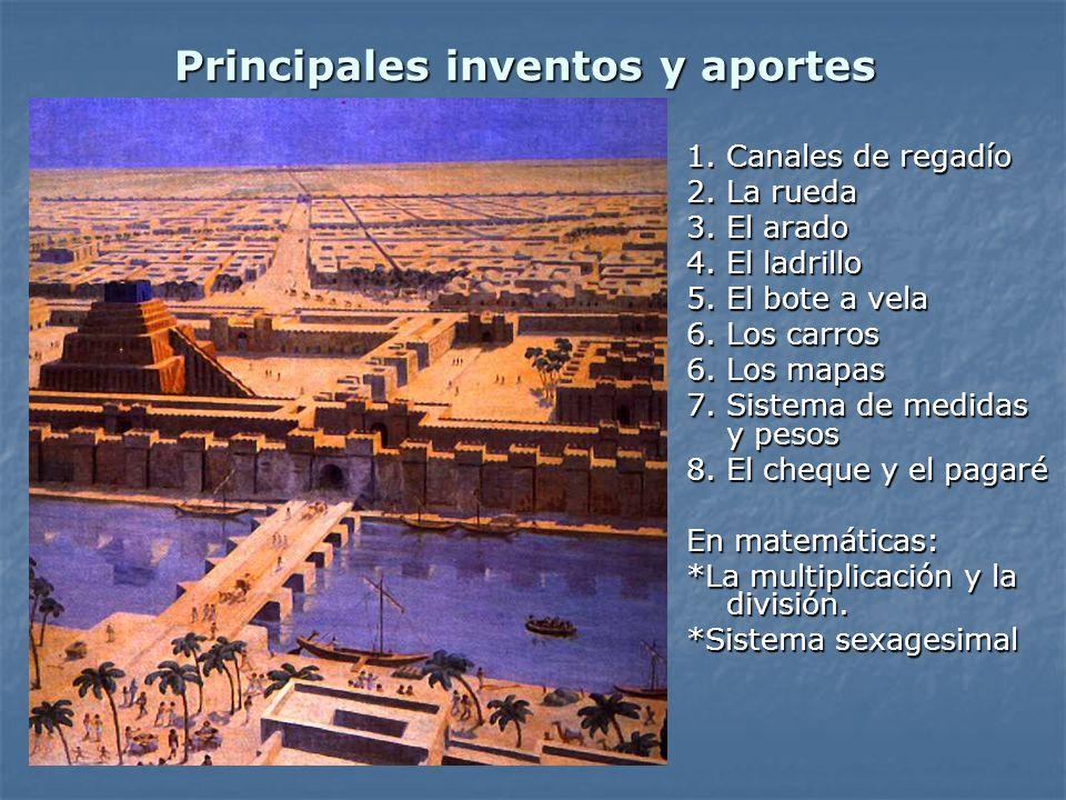 Principales inventos y aportes
