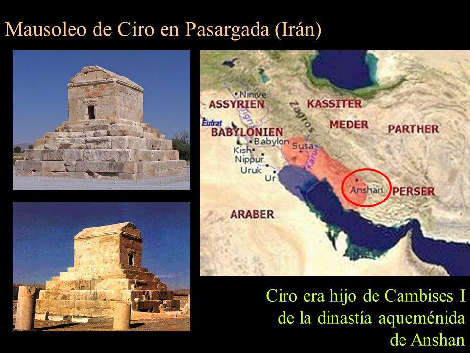 Mausoleo de Ciro en Pasargada (Irán)