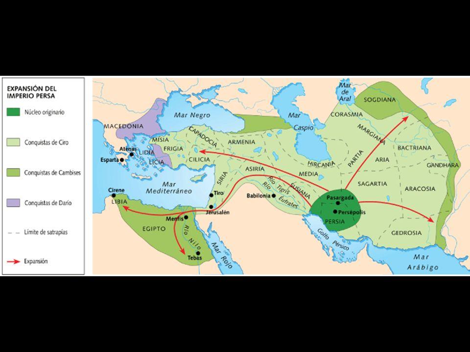 Hacia el 550, Ciro había conquistado Ecbáctana, capital de Media, destronando a su rey y anexándose el vasto imperio medo. Inmediatamente emprendió una serie de campañas que sembraron terror por todas partes.
