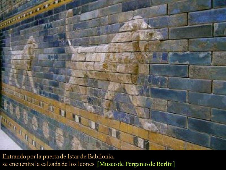 Entrando por la puerta de Istar de Babilonia,
