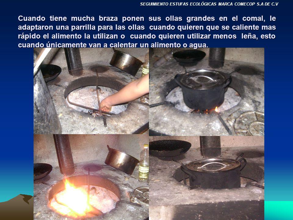 SEGUIMIENTO ESTUFAS ECOLÓGICAS MARCA COMECOP S.A DE C.V