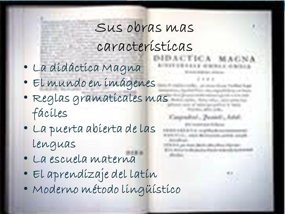 SUS OBRAS MAS CARACTERISTICAS