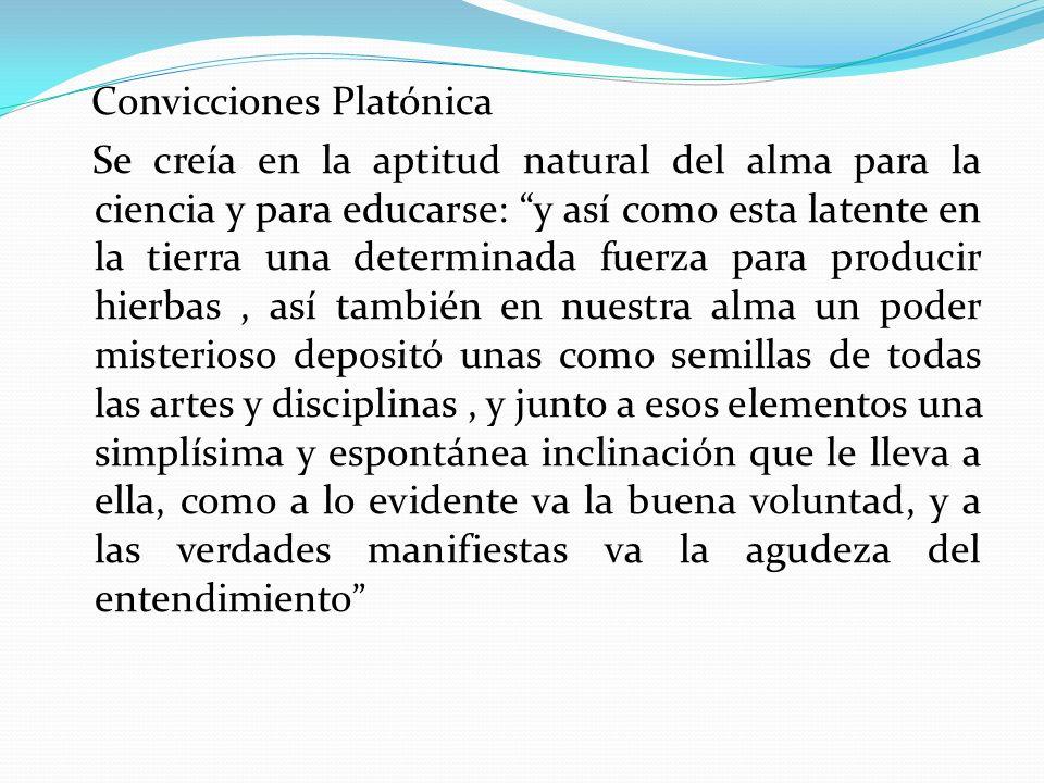 Convicciones Platónica