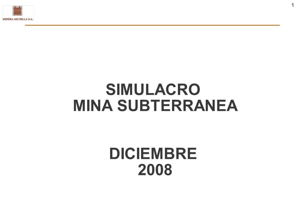 SIMULACRO MINA SUBTERRANEA DICIEMBRE 2008