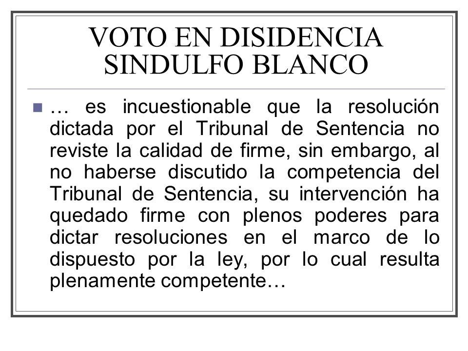VOTO EN DISIDENCIA SINDULFO BLANCO
